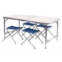Сгъваема маса за къмпинг с 4 стола
