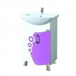 Долен шкаф за баня MAKENA Дропс конзолен с умивалник