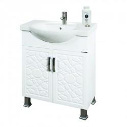 Долен шкаф за баня MAKENA Екстра конзолен с умивалник